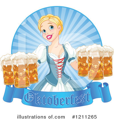 Beer Maiden Clipart #1211265 by Pushkin