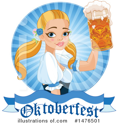 Beer Maiden Clipart #1476501 by Pushkin