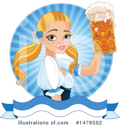 Beer Maiden Clipart #1476502 by Pushkin