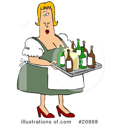 Beer Maiden Clipart #20868 by djart
