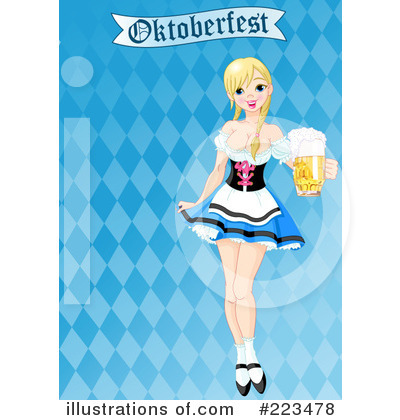 Beer Maiden Clipart #223478 by Pushkin