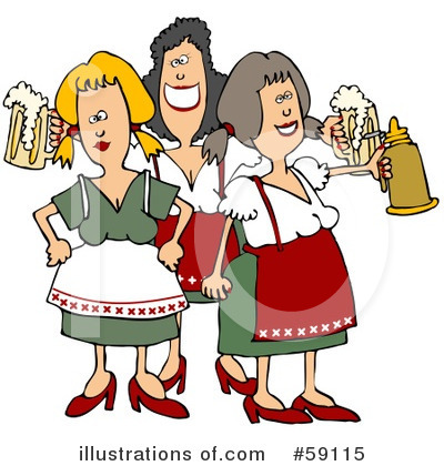 Beer Maiden Clipart #59115 by djart