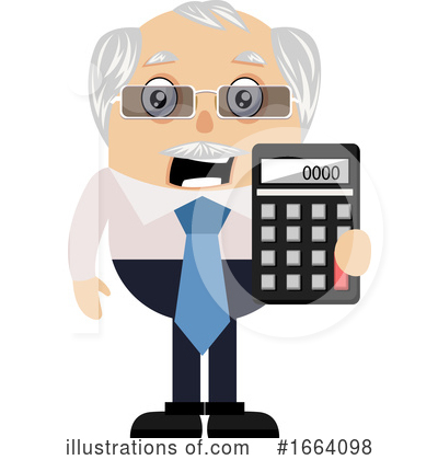 Old Business Man Clipart #1664098 by Morphart Creations