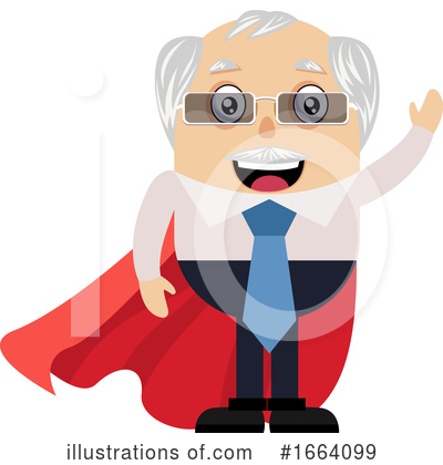 Royalty-Free (RF) Old Business Man Clipart Illustration by Morphart Creations - Stock Sample #1664099