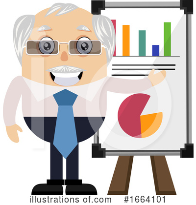 Old Business Man Clipart #1664101 by Morphart Creations