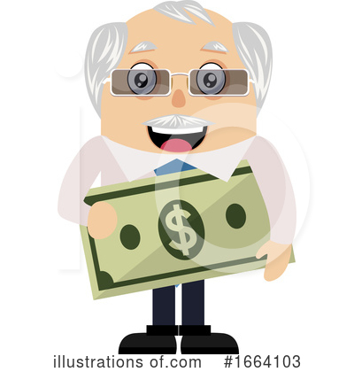 Old Business Man Clipart #1664103 by Morphart Creations