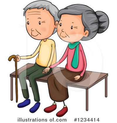 Royalty-Free (RF) Old Couple Clipart Illustration by Graphics RF - Stock Sample #1234414