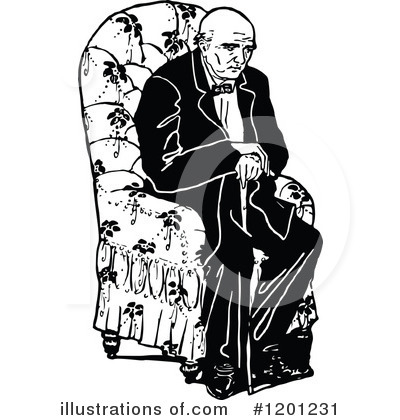 Old Man Clipart #1201231 by Prawny Vintage