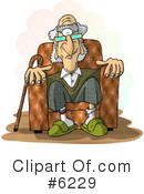Royalty-Free (RF) old people Clipart Illustration #6229