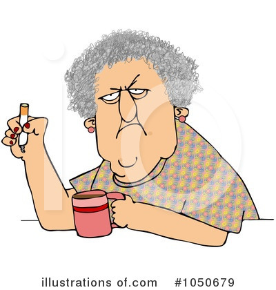 Royalty-Free (RF) Old Woman Clipart Illustration by djart - Stock