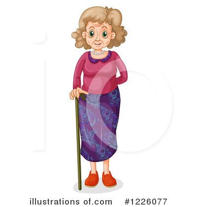 Senior Woman Clipart #1226077 by Graphics RF