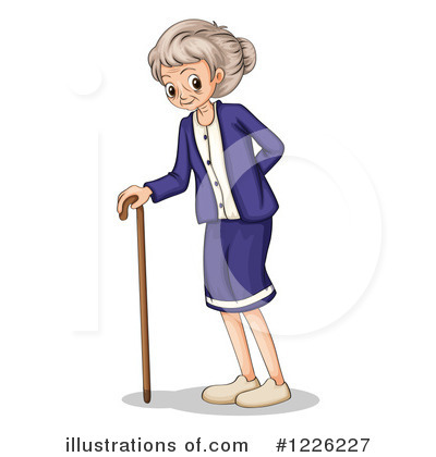 Senior Woman Clipart #1226227 by Graphics RF