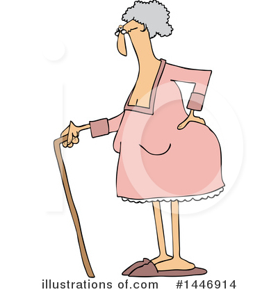 Old Woman Clipart #1446914 by djart