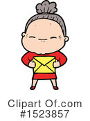 Old Woman Clipart #1523857 by lineartestpilot