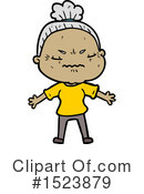 Old Woman Clipart #1523879 by lineartestpilot