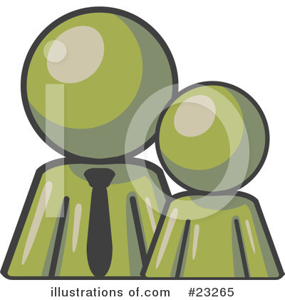 Royalty-Free (RF) Olive Green Collection Clipart Illustration by Leo Blanchette - Stock Sample #23265