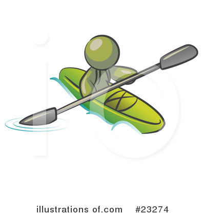 Kayaking Clipart #23274 by Leo Blanchette