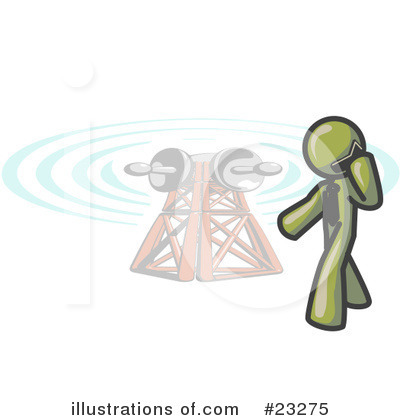 Communications Tower Clipart #23275 by Leo Blanchette