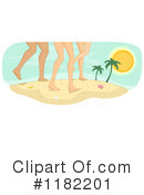 Royalty-Free (RF) On The Beach Clipart Illustration #1182201