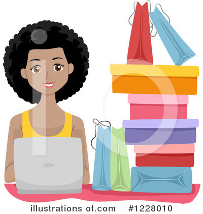 Shopping Bags Clipart #1228010 by BNP Design Studio