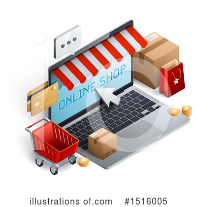 Shopping Cart Clipart #1516005 by beboy