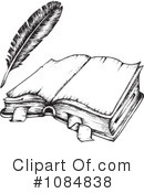 Royalty-Free (RF) Open Book Clipart Illustration #1084838