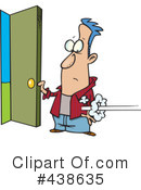 Royalty-Free (RF) Open Door Clipart Illustration #438635