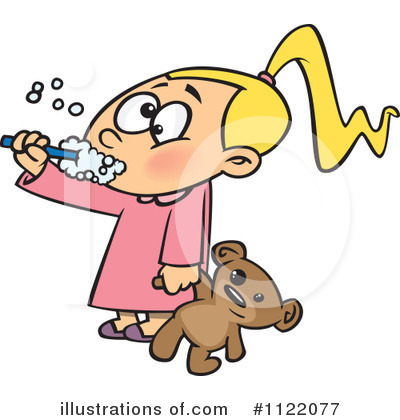 Brushing Teeth Clipart #1122077 by toonaday