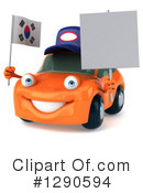 Orange Car Clipart #1290594 by Julos