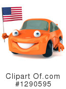 Orange Car Clipart #1290595 by Julos