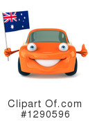 Orange Car Clipart #1290596 by Julos