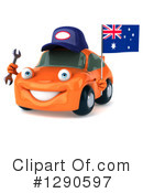 Orange Car Clipart #1290597 by Julos