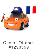 Orange Car Clipart #1290599 by Julos
