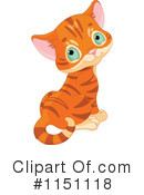 Royalty-Free (RF) Orange Cat Clipart Illustration #1151118