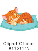 Royalty-Free (RF) Orange Cat Clipart Illustration #1151119