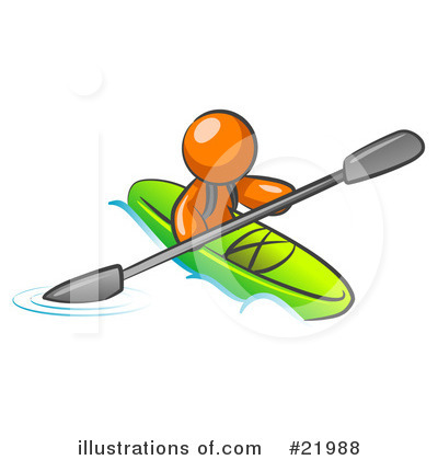 Kayaker Clipart #21988 by Leo Blanchette