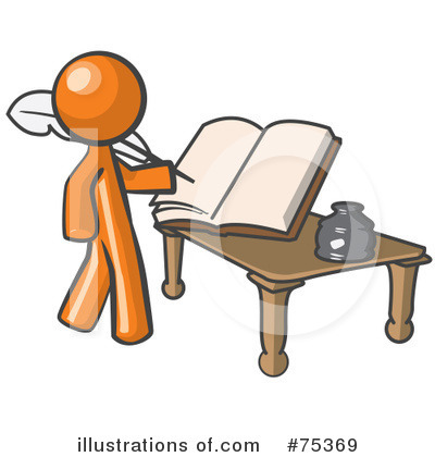 Book Clipart #75369 by Leo Blanchette