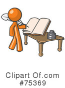 Royalty-Free (RF) Orange Collection Clipart Illustration #75369