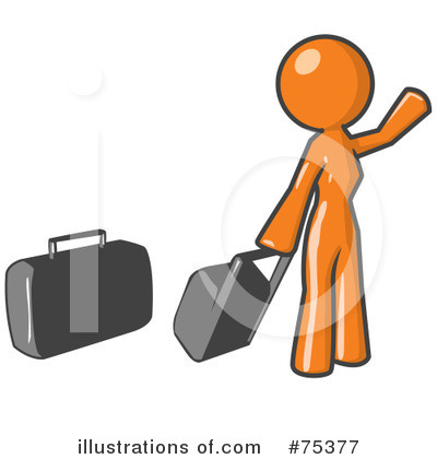 Royalty-Free (RF) Orange Collection Clipart Illustration by Leo Blanchette - Stock Sample #75377