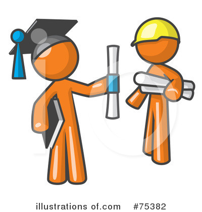Contractor Clipart #75382 by Leo Blanchette