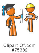 Royalty-Free (RF) Orange Collection Clipart Illustration #75382