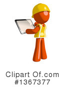 Orange Construction Worker Clipart #1367377 by Leo Blanchette