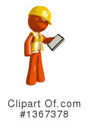 Orange Construction Worker Clipart #1367378 by Leo Blanchette