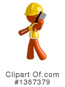 Orange Construction Worker Clipart #1367379 by Leo Blanchette
