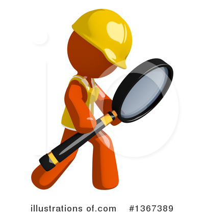 Contractor Orange Man Clipart #1367389 by Leo Blanchette
