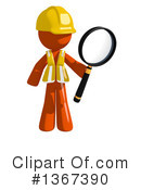 Royalty-Free (RF) Orange Construction Worker Clipart Illustration #1367390