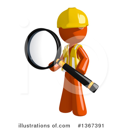 Contractor Orange Man Clipart #1367391 by Leo Blanchette