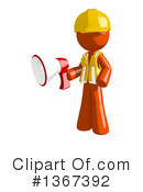 Royalty-Free (RF) Orange Construction Worker Clipart Illustration #1367392