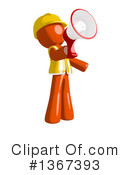 Royalty-Free (RF) Orange Construction Worker Clipart Illustration #1367393
