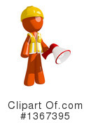 Royalty-Free (RF) Orange Construction Worker Clipart Illustration #1367395